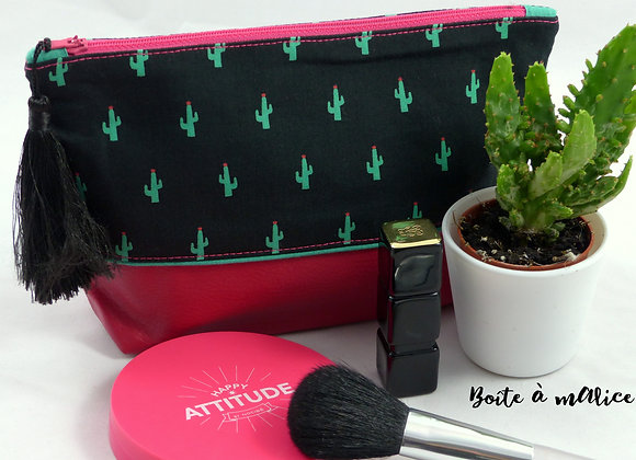 Trousse bi-matière cactus