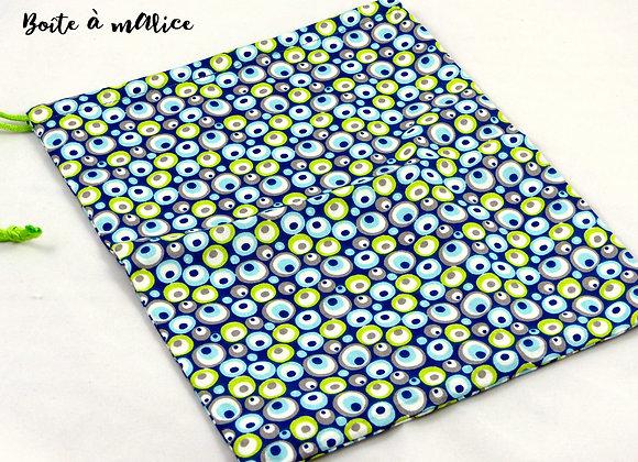 Pochette fourre-tout toile confettis multicolores
