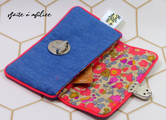 Porte monnaie attache cartable Liberty Betsy Fluothé