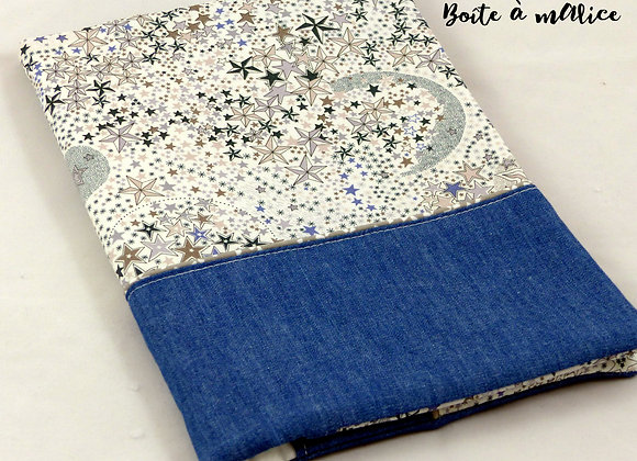 Protège carnet de santé Liberty Adeladja blue jean