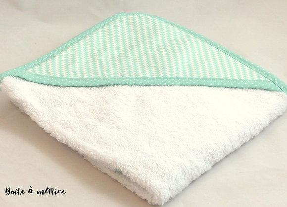 Sortie de bain triangles verts