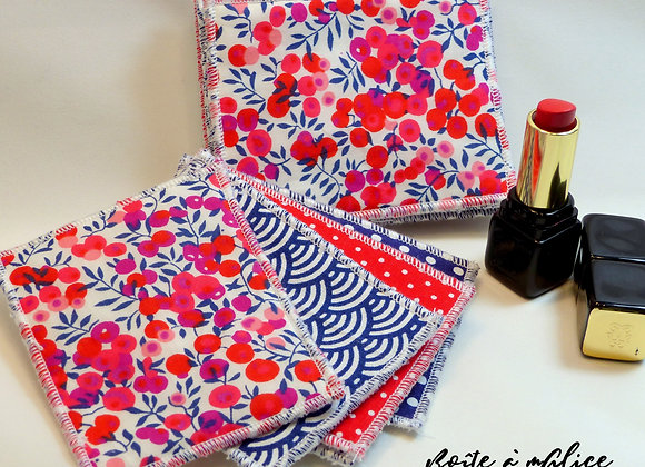 Lingettes Liberty Wiltshire rouge