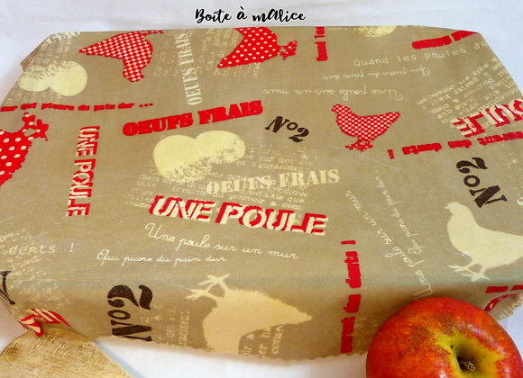 Bee wrap poulettes grand format
