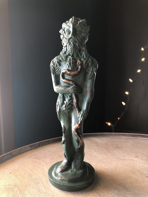 Green Man of Death and Rebirth Statue