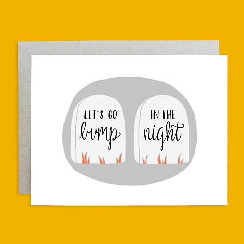 Halloween Hand-lettered Greeting Card by Holly Oddly