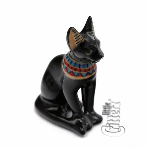 Bastet Cat Porcelain Figurine
