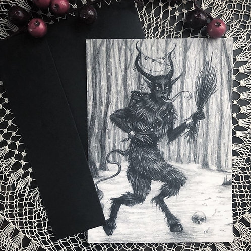 Greetings From Krampus Greeting Cards