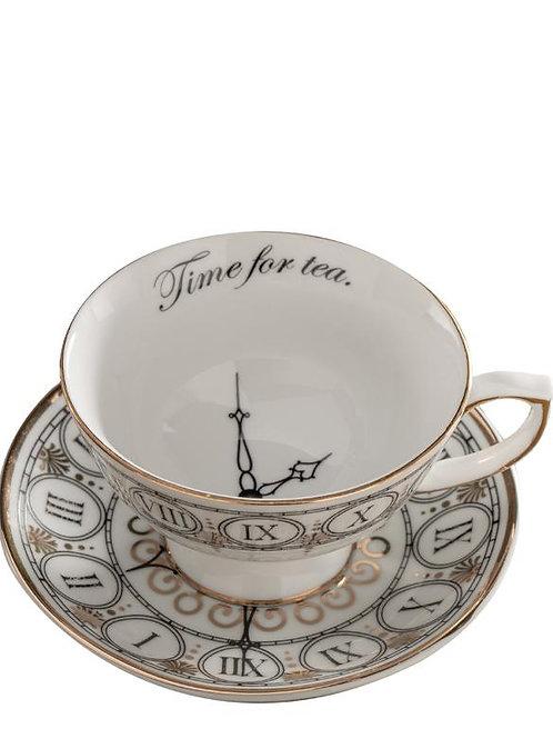 Time for Tea Teacup and Saucer