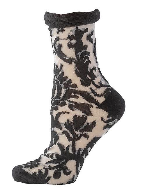 Floral Damask Lace Socks