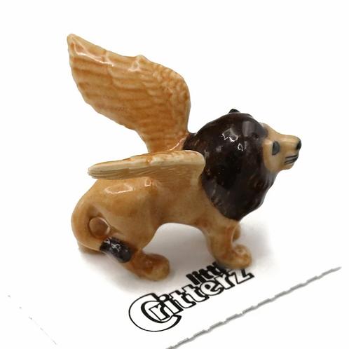 Griffin Winged Lion Porcelain Figurine