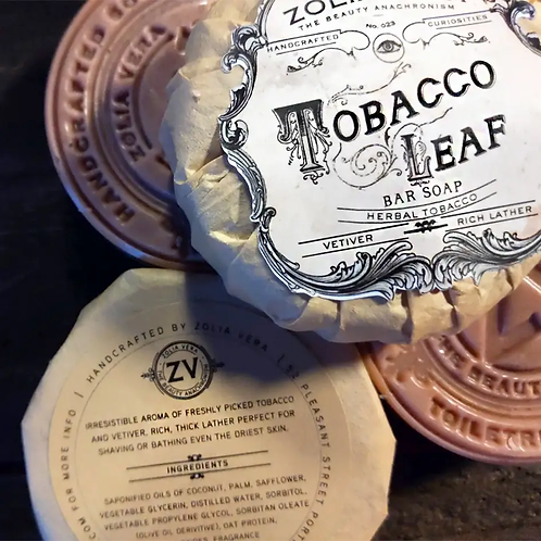 Tobacco Leaf Bar Soap | Vetiver & Fresh Tobacco