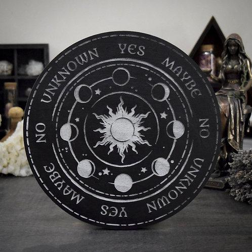Pendulum Board - Moon Phase (silver)