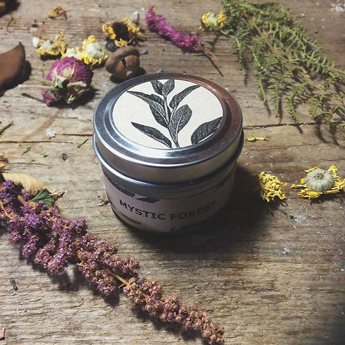 Cottage Witch Botanicals - Mystic Forest - Travel Tin Candle