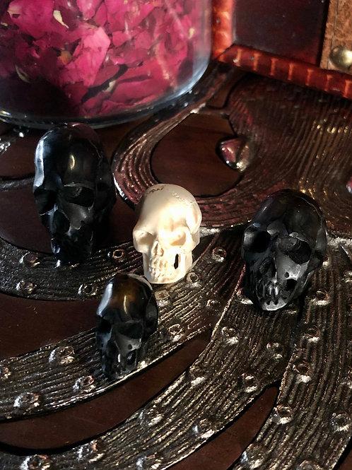 Jet & Bone Skulls