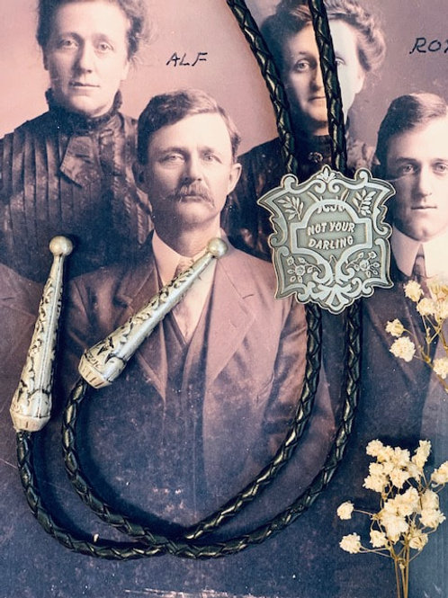 """Holy Hangman - """"Not Your Darling"""" Gothic Bolo Tie"""