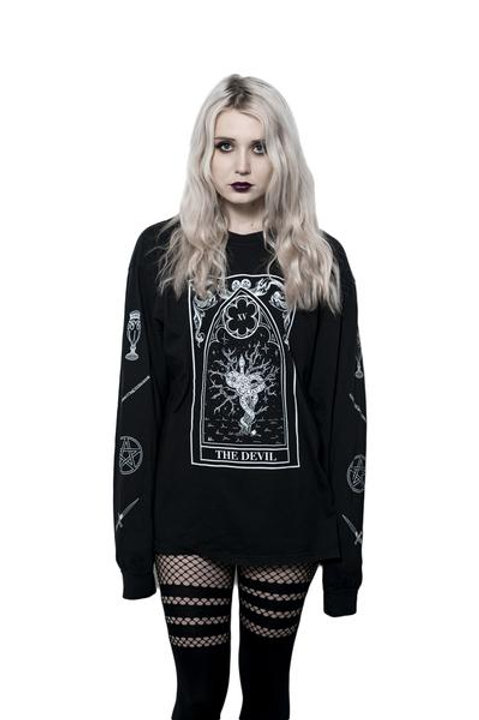 The Pretty Cult The Devil Long Sleeve Tee