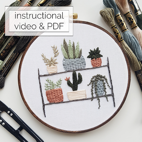 plant shelf // instructional video w/ pattern