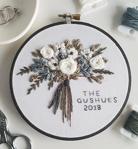 custom wedding bouquet PDF pattern
