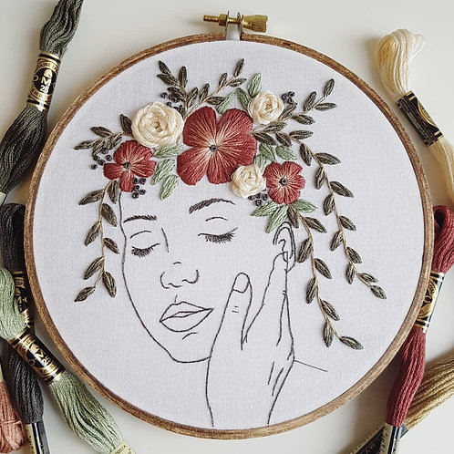 growing // beginner embroidery kit