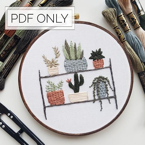 plant shelf // pattern only