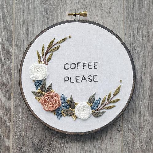 """""""Coffee please"""" digital pattern"""