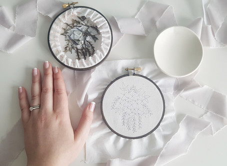 How I start, finish and transfer my embroidery pieces