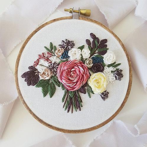 digital pattern only // custom wedding bouquet embroidery