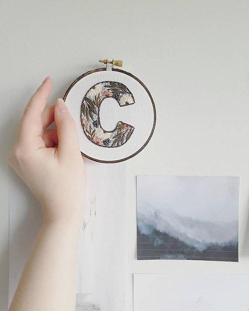"""floral letter """"C"""""""