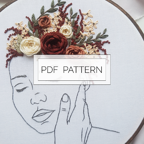 embroidery pattern // GROWING // PDF