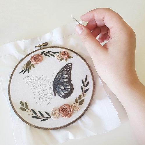butterfly // digital embroidery pattern