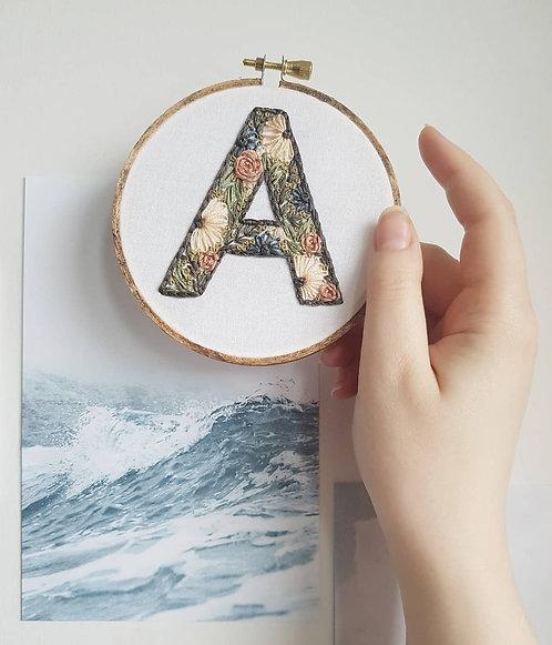 """floral letter """"A"""""""