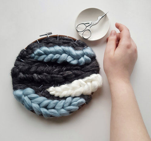 silver lining // hoop art // READY-TO-SHIP