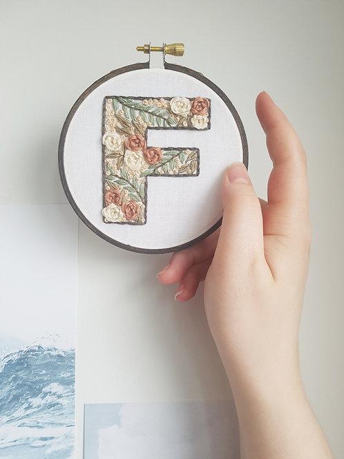"""floral letter """"F"""""""