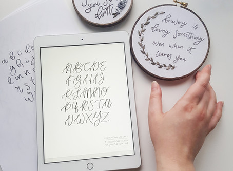 how to use my new lettering templates