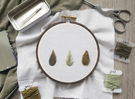 3 ways to embroider leaves