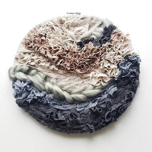 for our earth // woven hoop // through rain or shine art