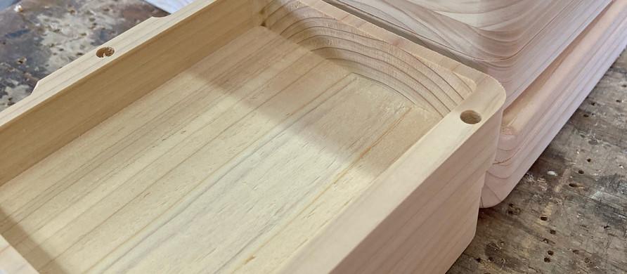 木製ルアーBOX製作中