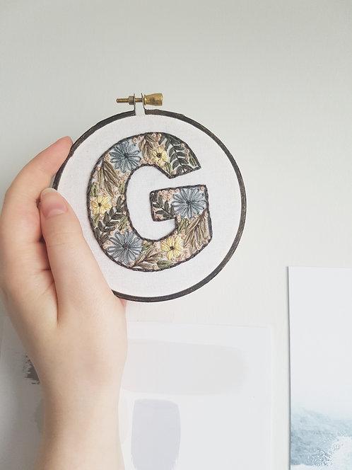 """floral letter """"G"""""""