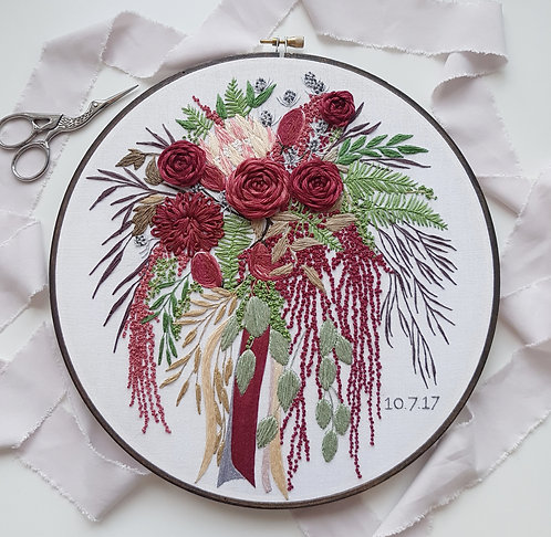 CUSTOM WEDDING BOUQUET EMBROIDERY