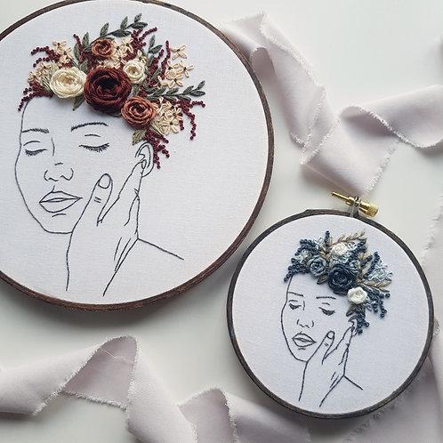 growing // digital embroidery pattern