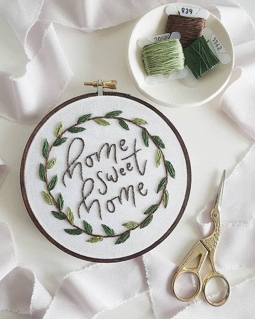 home sweet home // digital embroidery pattern