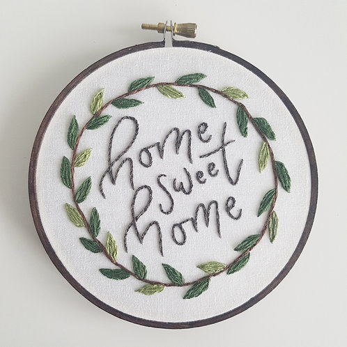 home sweet home // beginner embroidery kit