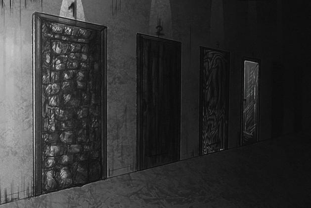 комната дверей