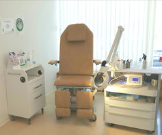 Klientstol, arbetslampa och arbetsbord Medicinsk Fotvård