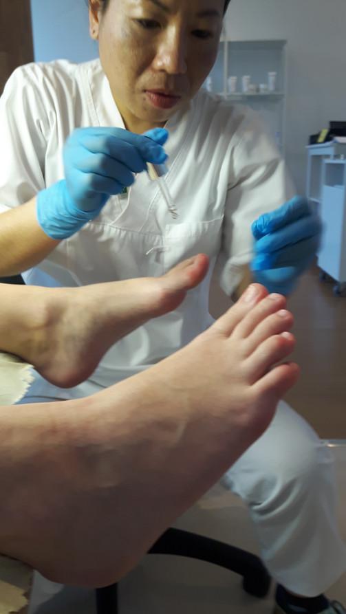 avslutande nagelbehandling