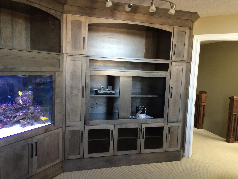 custom fish tank cabinet