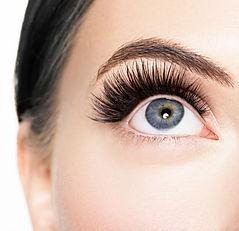 Eye lashes close up macro lashes extensi