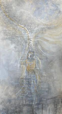 Amat-Acrylic over canvas, 75x42