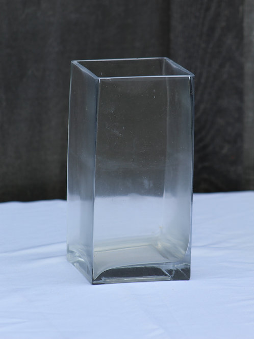 tall square glass vase(4)