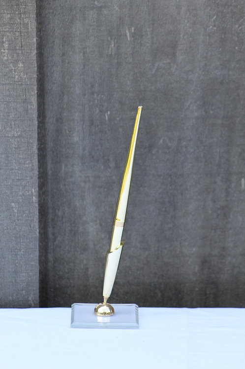 gold guestbook pen